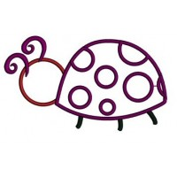 Ladybug Applique Machine Embroidery Digitized Design Pattern - Instant Download - 4x4 , 5x7, and 6x10 -hoops