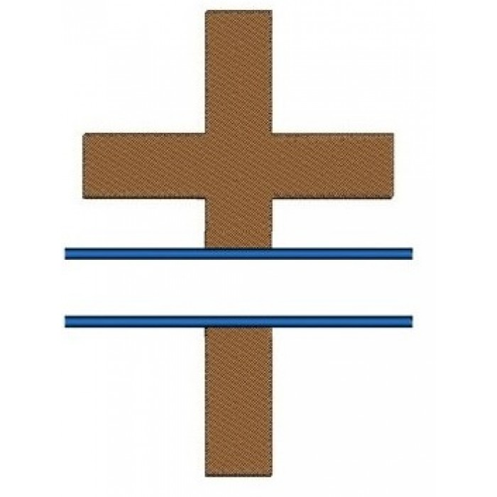 Religious Split Cross Christian, Catholic Machine Embroidery Digitized Design Filled Pattern - Instant Download - 4x4 , 5x7, 6x10