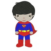 Instant Download Cute Boy Superman's Little Brother (hands out) Machine Embroidery Design