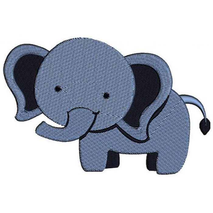 Instant Download Cute Elephant African Animal Machine Embroidery Design Digitized Pattern - 4x4 , 5x7, and 6x10 hoops