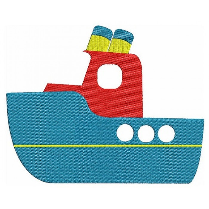 Instant Download Little Cute Boat Embroidery Design
