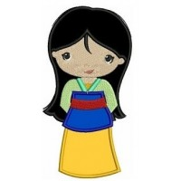 Instant Download Princess Mulan's Little Sister Machine Embroidery Applique Design