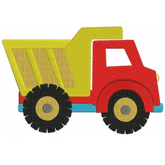 Dump Truck Filled Machine Embroidery Design Instant Download truck