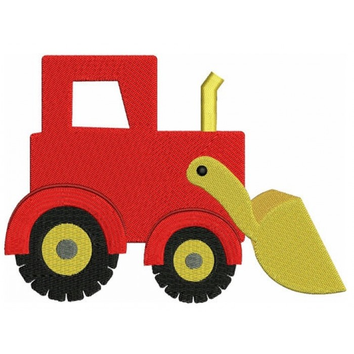 Instant Download Excovator truck Machine Embroidery Design