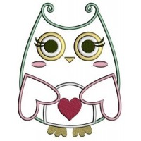 Owl Machine Embroidery Applique Digitized Pattern - Instant Download Cute - comes in three sizes to fit 4x4 , 5x7, and 6x10 hoops
