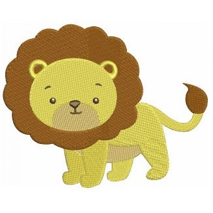 Instant Download Lion African Animal Machine Embroidery Design