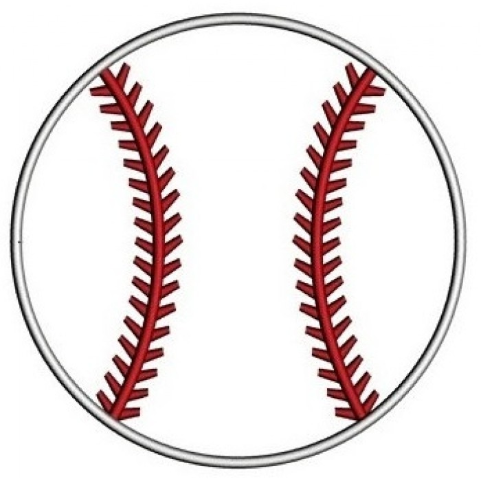 Baseball Applique Machine Embroidery Digitized Design  Pattern  - Instant Download - 4x4 , 5x7, and 6x10 -hoops