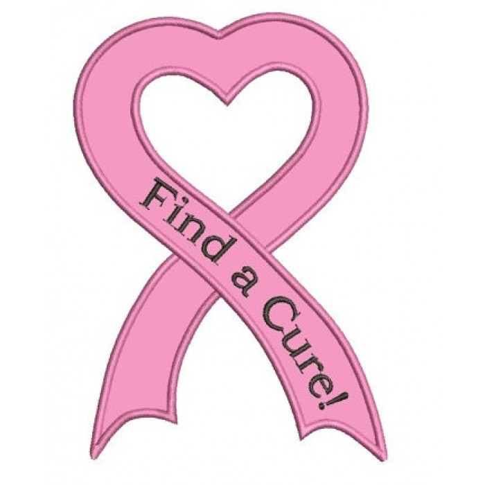 breast cancer awareness ribbon machine embroidery digitized design