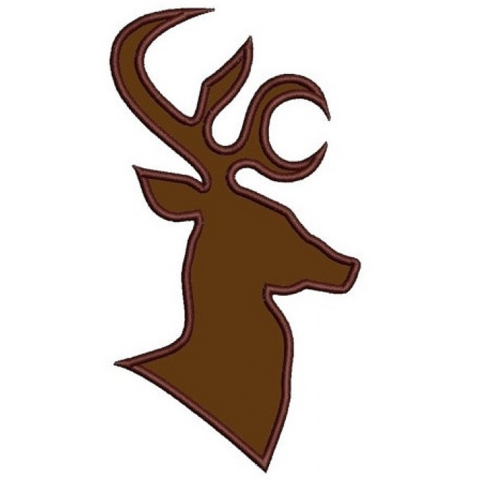 Deer, Buck Head digitized hunting machine embroidery Applique design - Instant Download -4x4 , 5x7, and 6x10 hoops
