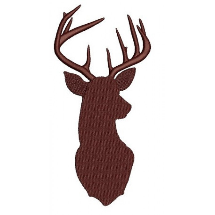 Deer, Buck digitized hunting machine embroidery Filled design - Instant Download -4x4 , 5x7, and 6x10 hoops