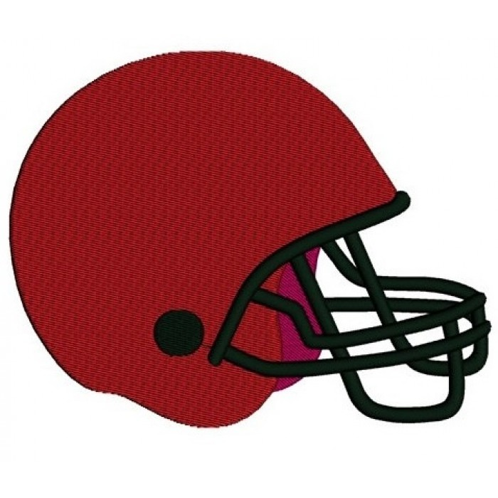 Football Helmet Sport Machine Embroidery Digitized Design Filled Pattern- Instant Download - 4x4 , 5x7, and 6x10 hoops