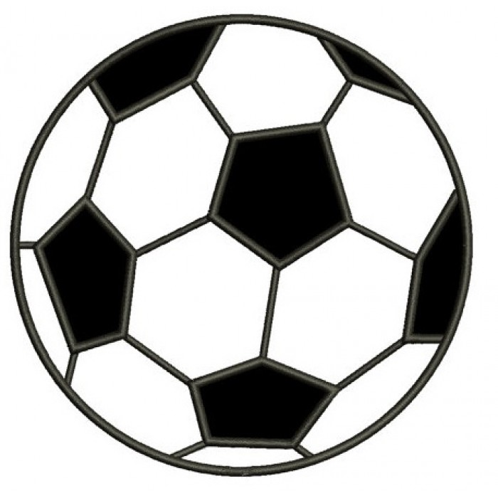 Soccer Ball Applique Machine Embroidery Digitized Design Pattern - Instant Download - 4x4 , 5x7, and 6x10 -hoops