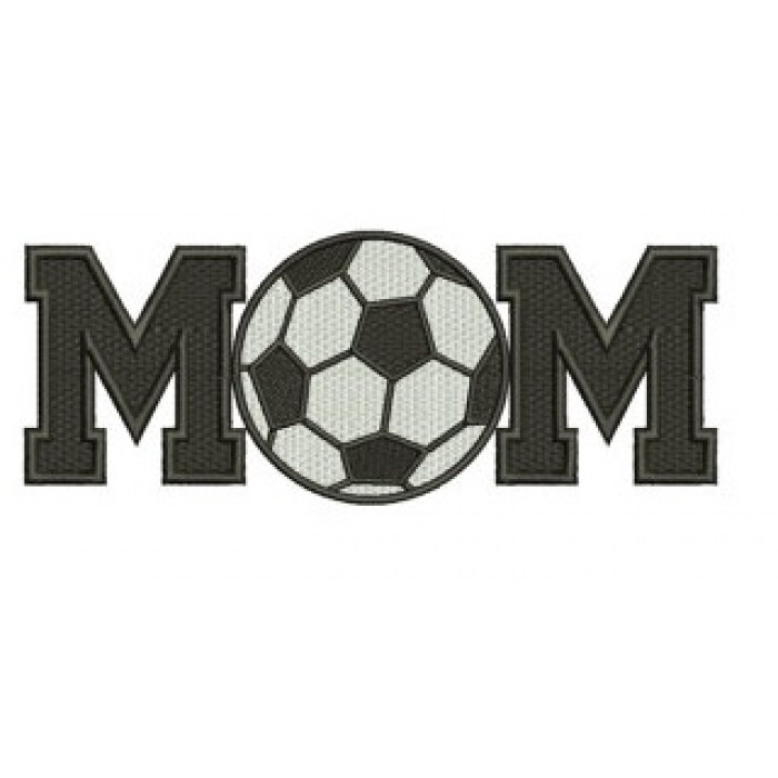 Soccer Mom with Ball Design Machine Embroidery Digitized Design Filled In Pattern - Instant Download - 4x4 , 5x7, and 6x10 -hoops