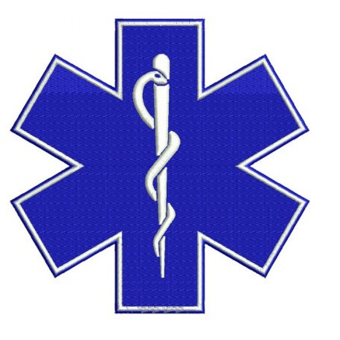 Star of Life medical EMS EMT paramedic medics Embroidery Design - Instant Download Machine Pattern 4x4 , 5x7, 6x10 - Nurses, Doctors, LPn