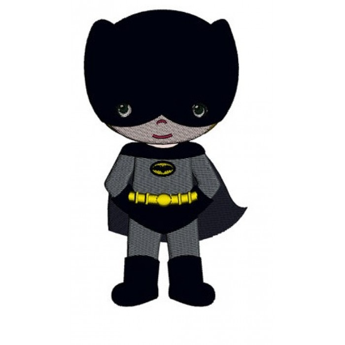 Instant Download Cute Boy Batman's Little Brother (hands out) Machine Embroidery Design