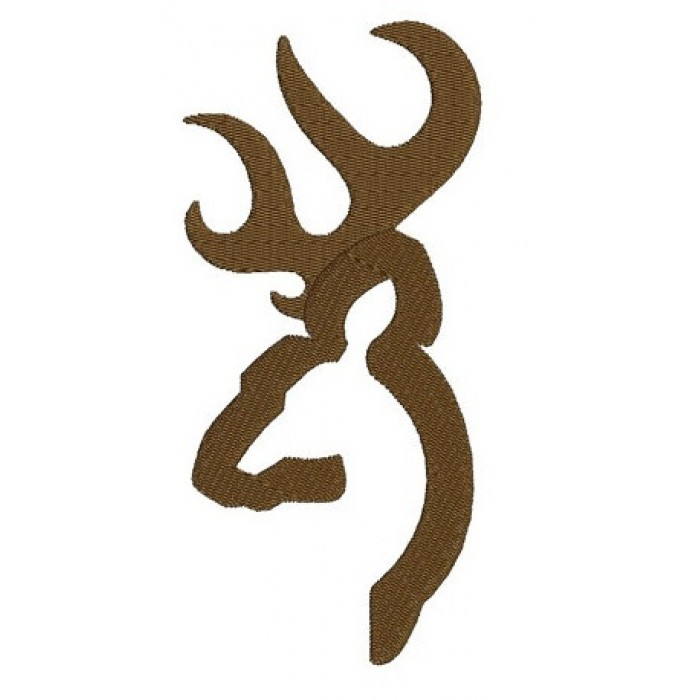 Browning Doe, Buck Head, Deer machine embroidery digitized Filled design pattern - Instant Download -4x4 , 5x7, and 6x10 hoops