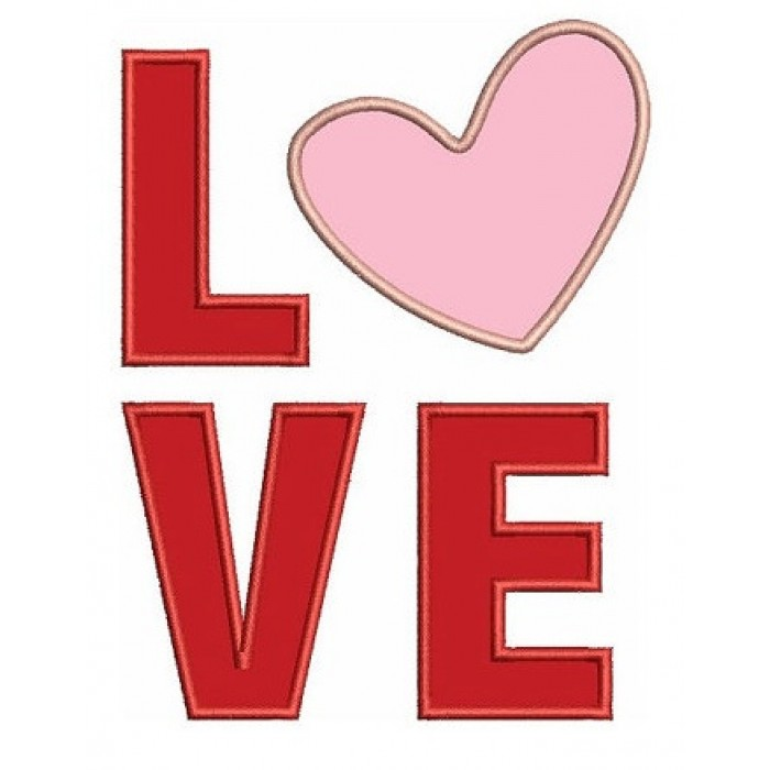 Instant Download Love Applique comes in three sizes to fit 4x4 , 5x7, and 6x10 hoops