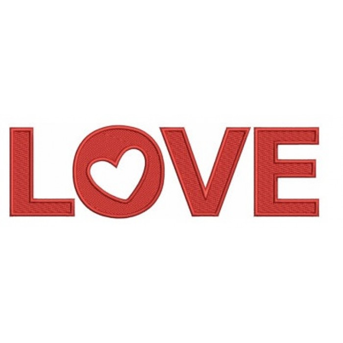 Instant Download Love with heart Machine Embroidery Design comes in three sizes to fit 4x4 , 5x7, and 6x10 hoops