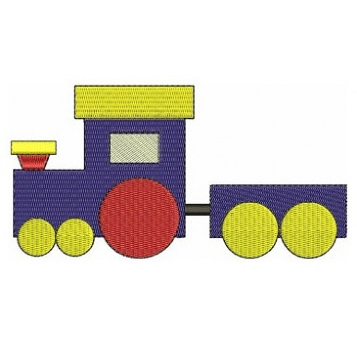 Instant Download Choo Choo Train Machine Embroidery Design comes in three sizes to fit 4x4 , 5x7, and 6x10 hoops
