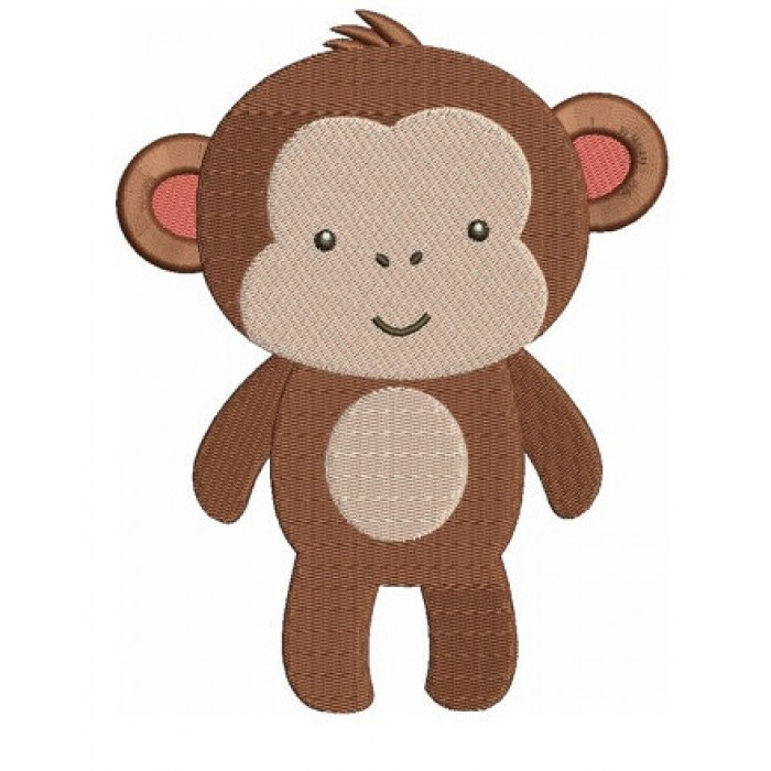 Instant Download Monkey African Animal Machine Embroidery Design