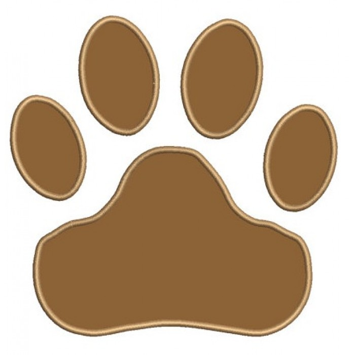 Applique Dog Paw Machine Embroidery Digitized Design (pattern) - Instant Download - for 4x4 , 5x7, and 6x10 hoops