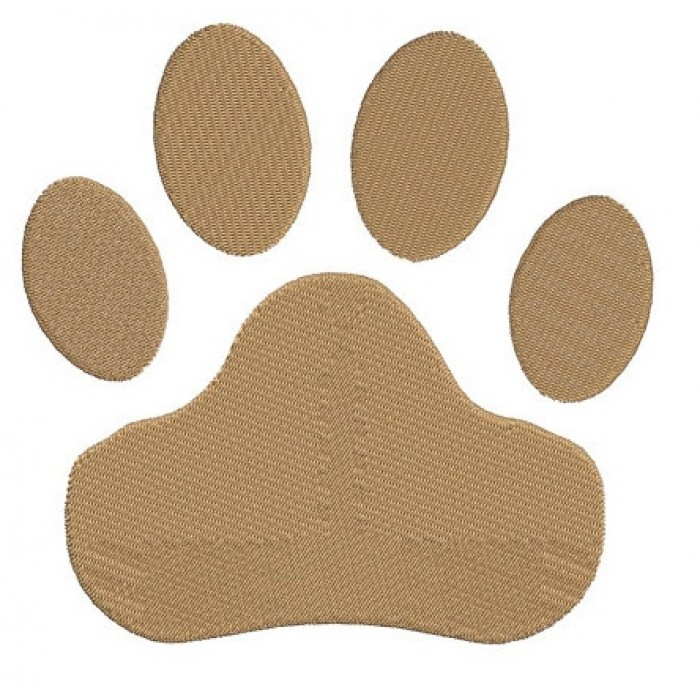 Dog Paw Machine Embroidery Digitized Design (pattern) - Instant Download - for 4x4 , 5x7, and 6x10 hoops