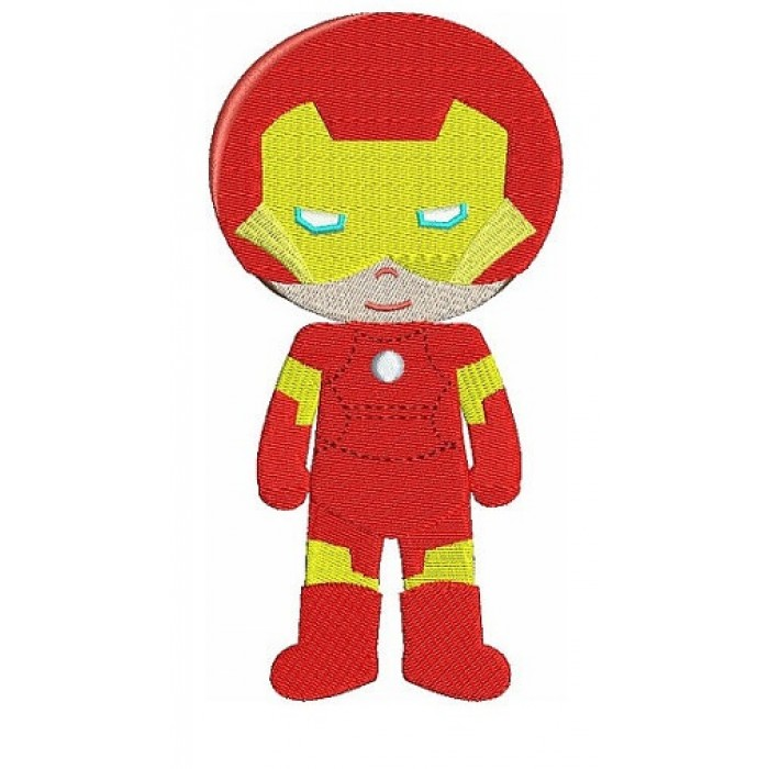 Instant Download Cute Iron man's Little Brother (hands out) Superhero Machine Embroidery Design