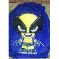 Looks Like Wolverine Superhero Applique - instant download - Digitized Machine Embroidery Design - 4x4 , 5x7, and 6x10 hoops