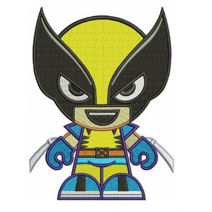 Looks Like Wolverine Superhero Design - instant download - Digitized Machine Embroidery - 4x4 , 5x7, and 6x10 hoops