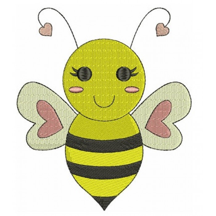 Bumble Bee Machine Embroidery Design Filled Instant Download comes in three sizes to fit 4x4 , 5x7, and 6x10 hoops