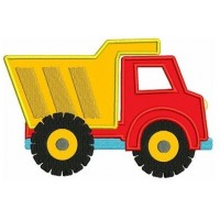 Dump Truck Applique Machine Embroidery Design Instant Download truck