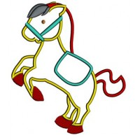 Little Pony Applique Machine Embroidery Digitized Pattern (Horse) - instant download - 4x4 , 5x7, and 6x10 -hoops