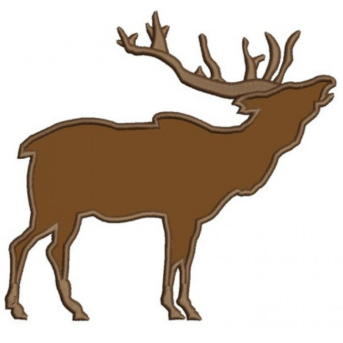 Elk, Moose, Buck Machine Embroidery Applique Design - Instant Download Digitized Pattern -4x4 , 5x7, and 6x10 hoops