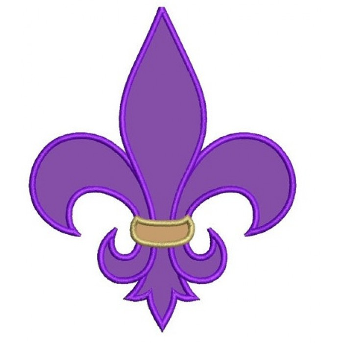 Fleur De Lis Applique Machine Embroidery Digitized Design Pattern - Instant Download - 4x4 , 5x7, and 6x10 -hoops