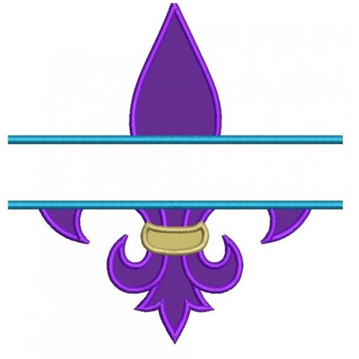 Fleur De Lis Applique Split Machine Embroidery Digitized Design Pattern - Instant Download - 4x4 , 5x7, and 6x10 -hoops