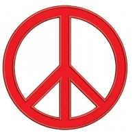 Peace Sign Applique Embroidery - Machine Digitized Design Pattern - Instant Download - 4x4 , 5x7, and 6x10 -hoops
