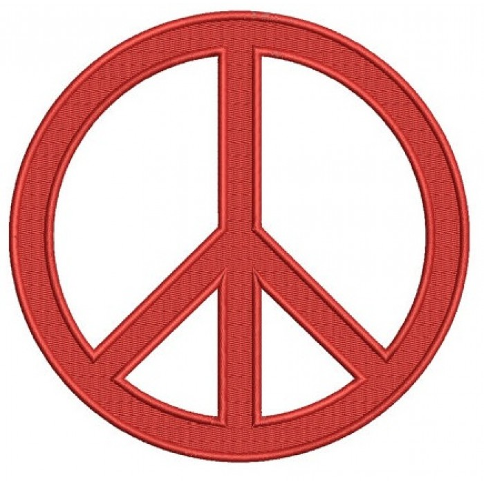 Peace Sign Embroidery - Machine Digitized Design Filled Pattern - Instant Download - 4x4 , 5x7, and 6x10 -hoops