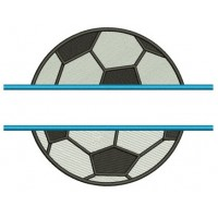 Soccer Ball Split Design Machine Embroidery Digitized Design Filled In Pattern - Instant Download - 4x4 , 5x7, and 6x10 -hoops