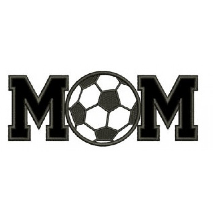 Soccer Mom with Ball Design Machine Embroidery Digitized Design Applique Pattern - Instant Download - 4x4 , 5x7, and 6x10 -hoops