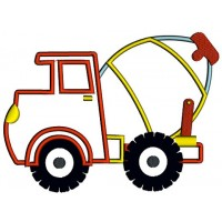 Instant Download Cement truck Machine Embroidery applique Design