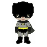 Instant Download Cute Boy Batman's Lantern's Little Brother (hands out) Super Hero Machine Embroidery Applique