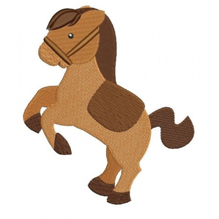 Little Pony Machine Embroidery Digitized Filled Pattern (Horse) - instant download - 4x4 , 5x7, and 6x10 -hoops