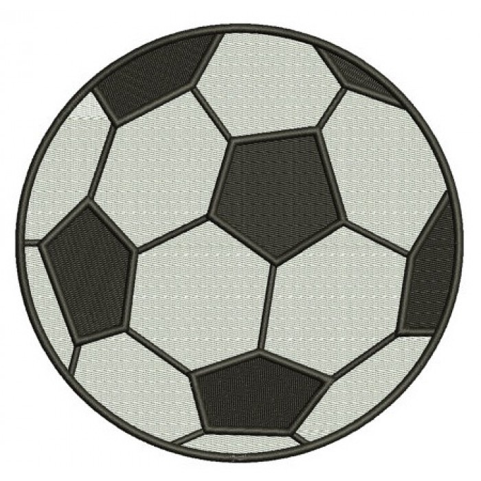 Ball Machine Embroidery Digitized Sports Design Filled In Pattern