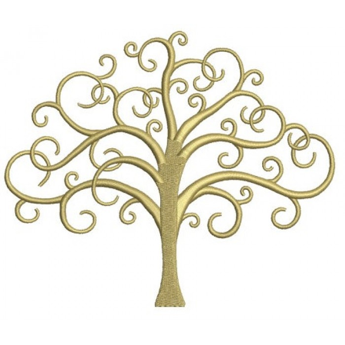 Tree Of Life Machine Embroidery Digitized Design Pattern - Instant Download - 4x4 , 5x7, and 6x10 -hoops